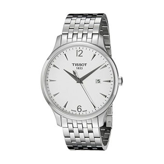 Tissot Men's T0636101103700 Tradition Round Silver-Tone Bracelet Watch - intl