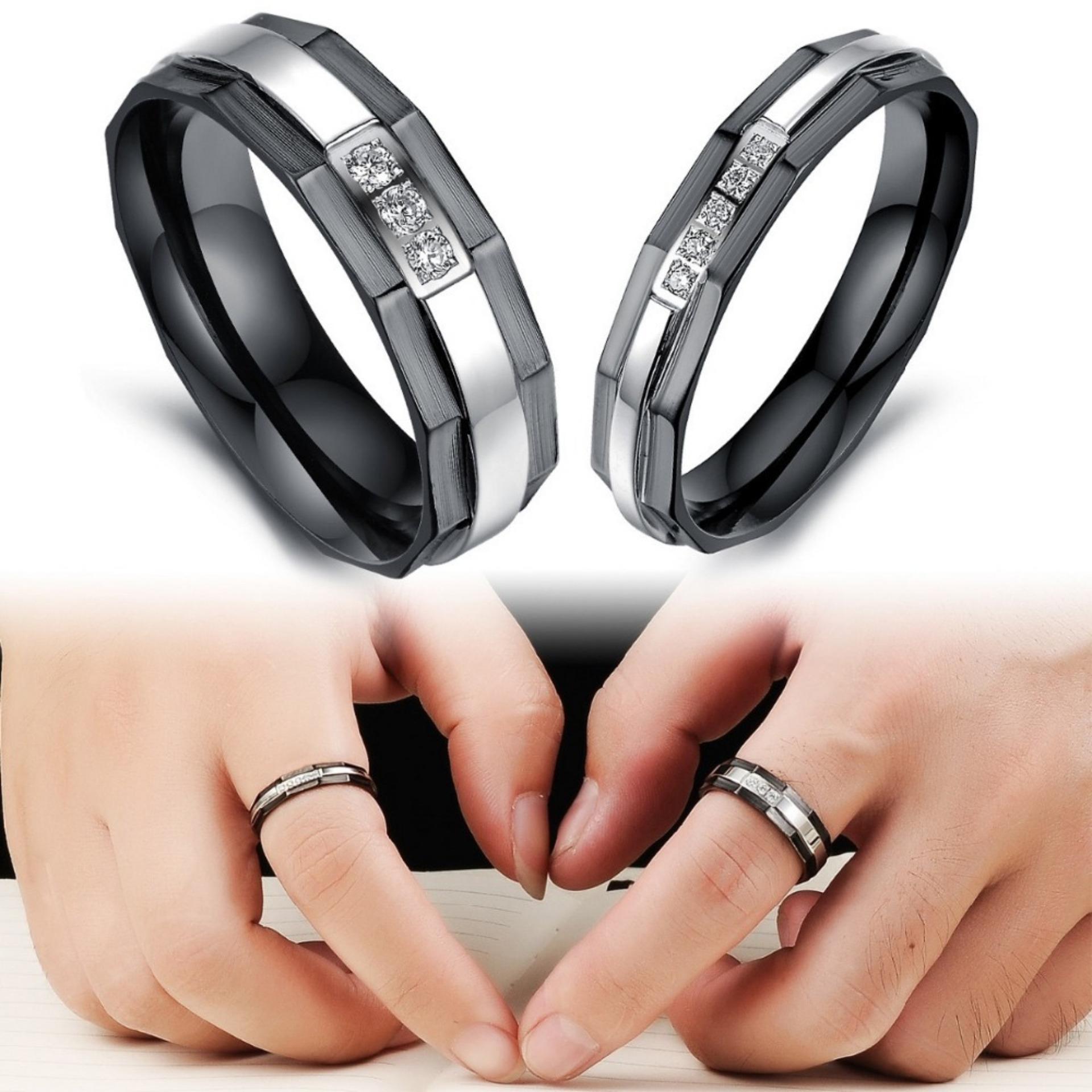 Titanium Cincin Couple - Cincin Tunangan - Cincin Nikah CC079