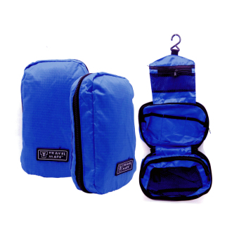 Travel Bag / Travel Bag Organizer / Travel Mate / Tas Kosmetik Toilet - BIRU