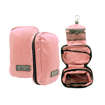 Travel Bag / Travel Bag Organizer / Travel Mate / Tas Kosmetik Toilet - pink salem