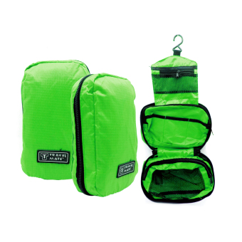 Travel Bag / Travel Bag Organizer / Travel Mate / Tas KosmetikToilet - hijau