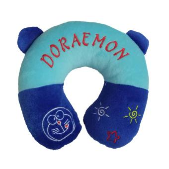 Travel Pillow / Neck Pillow / Bantal Mobil / Bantal Travel / BantalU / Bantal Leher Biru Tema Doraemon