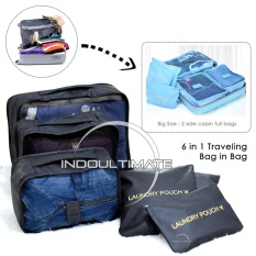 ULTIMATE BIG SIZE Travel Bag 6in1 Organizer IM OR 60-03 / Organizer Space Koper 1 Set - Black