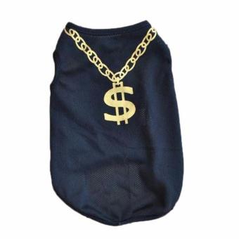 Unipet Baju Anjing dan Kucing Kalung dollar Size M - Hitam