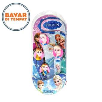 Uniq Jam Tangan Anak Flip Bongkar Pasang Model Karakter 3D Frozen - Putih