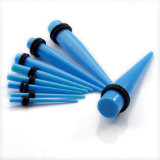 Unisex Acrylic Ear Plug Taper Kit Gauges Expander Stretcher Stretching Piercing Blue
