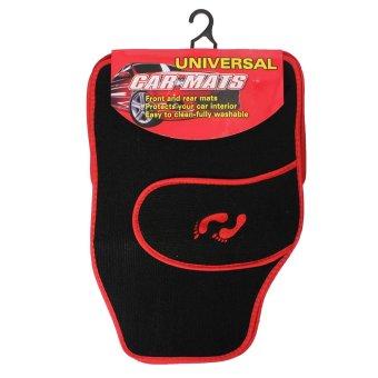 Universal 4 buah mobil depan belakang PVC lantai tikar karpet non-slip .