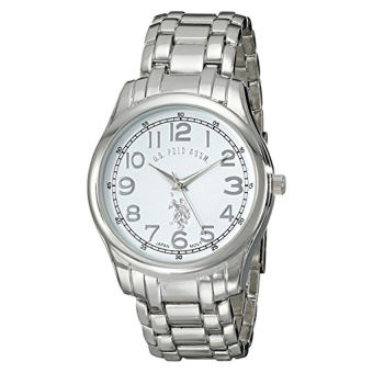 U.S. Polo Assn. Classic Men's USC80306 Analog Display Quartz Silver-Tone Watch - intl