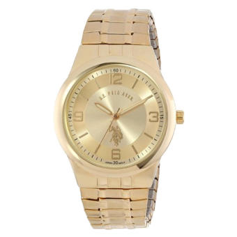U.S. Polo Assn. Classic Men's USC80023 Round Analogue Gold Dial Expansion Watch - intl