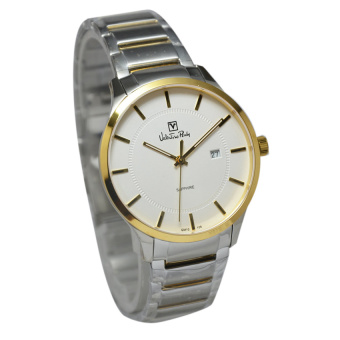 Valentino Rudy Jam Tangan Pria Silver Gold Stainless Steel VR106-1112
