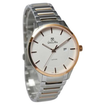 Valentino Rudy Jam Tangan Pria Silver Rosegold Stainless Steel VR106-1612