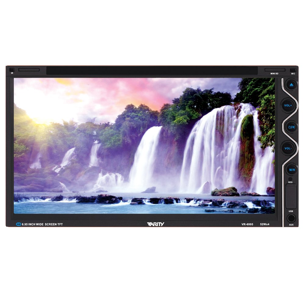 "VARITY VR-6995 - 6.95"" Double Din DVD/TV Monitor Touch Screen"