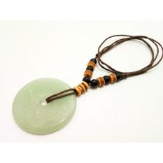 VeE Kalung Tali Batu Giok Hijau Donat Jumbo - Terapi Kesehatan