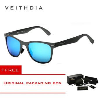 VEITHDIA aluminium laki-laki matahari kacamata terpolarisasi cermin  mengemudi luar ruangan kacamata aksesoris kacamata hitam 82b3433f8a