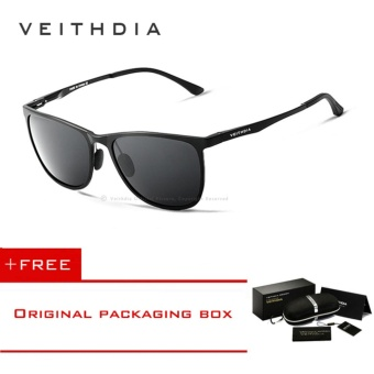 VEITHDIA Retro Aluminum Magnesium Brand Men's Sunglasses Polarized Lens Vintage Eyewear Accessories Sun Glasses For Men 6623 - intl