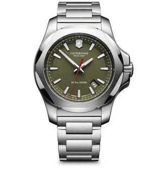 Victorinox Men's 'I.N.O.X' Swiss Quartz Stainless Steel Casual Watch, Color:Silver-Toned (Model: 241725.1) - intl