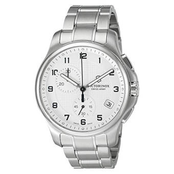 Victorinox Men's 'Officer's' Swiss Quartz Stainless Steel Casual Watch (Model: 241554) - Intl