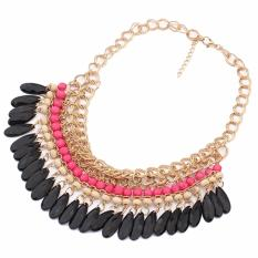 Vienna Linz Kalung Wanita Fashion Etnik Pesta Europe National Bohemian Clara Pendant Necklace - Pink