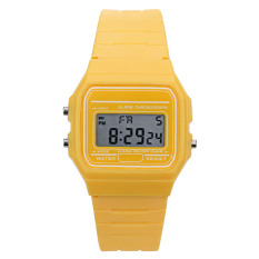 Wanita Elektronik LED Digital Multifungsi Sport Watch (Kuning)-Intl