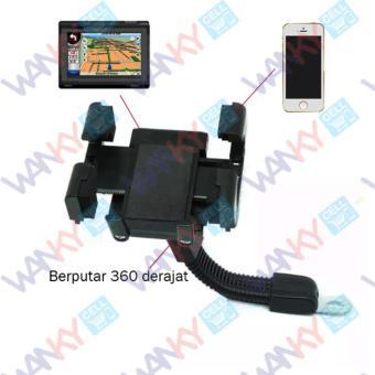Wanky Phone Holder Spion Motor - Hitam
