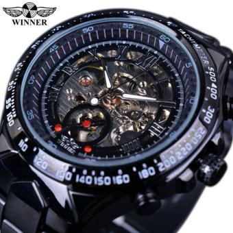 Winner Luxury Clock Men Automatic Watch Skeleton Military Watch Mechanical Relogio Male Montre Homme Watch Mens Relojes - intl