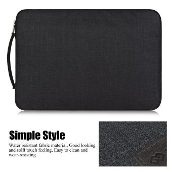 WIWU 13.3 Inch Laptop Sleeve Case with Handle Fabric CoverProtective Briefcase(Black) - Intl