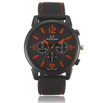 WSJ HommeAnalogue Acier Inoxydable Sports Montre Bracelet Wrist Watch Cadeau Orange - intl