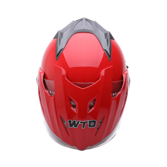 WTO Helmet - Double Visor - Pro-Sight - Merah - 5