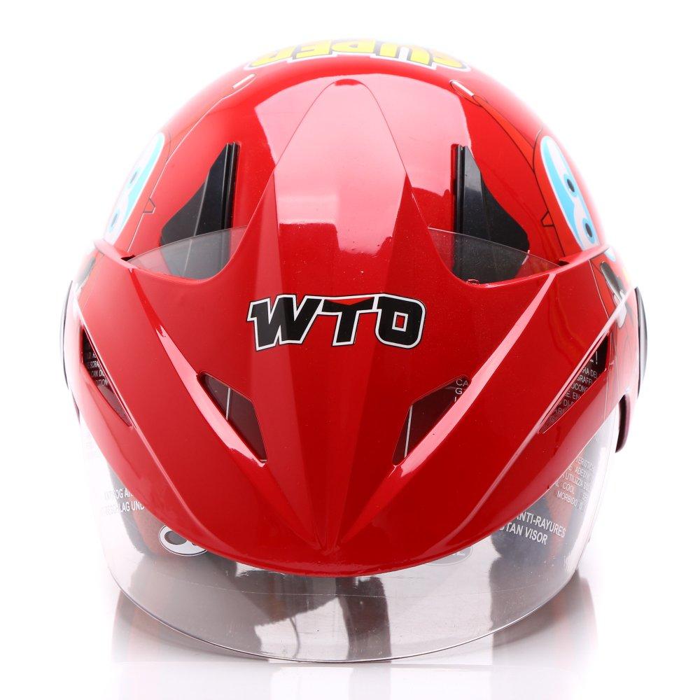 WTO Helmet Kids Pet - Super Wings - Merah .