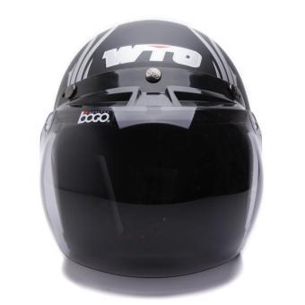 WTO Helmet Retro Bogo - Black Nine - Hitam Doff - 4