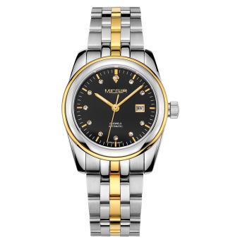 xaqiwe MEGIR men's business casual tide big dial watch steel belt mechanical watch (black) - intl