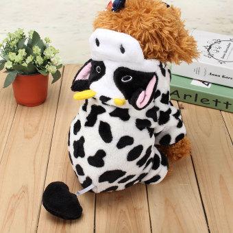 XL lucu kucing anjing peliharaan bayi anak cloth baju kostum Natalsusu sapi mantel - Internasional - 2
