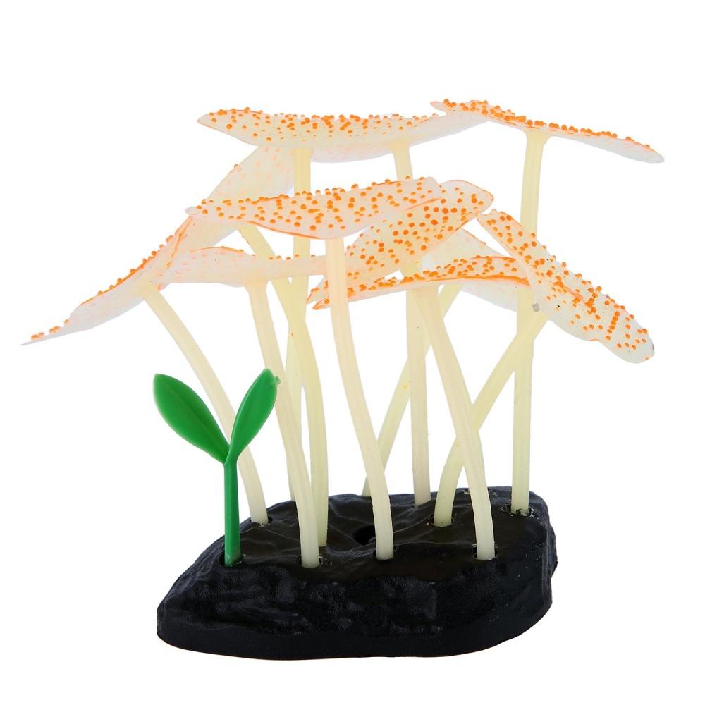 ... xudzhe Artificial Coral Plant For Fish Tank, Decorative AquariumOrnament , Yellow - intl ...