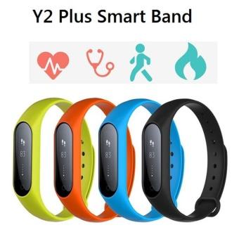 Y2 Plus Smart Bluetooth Wristband Heart Rate Blood Pressure Pedometer Waterproof - intl