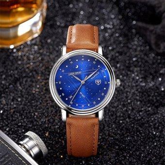 YAZOLE Brand Watch Men Watches Quartz Wristwatches Male Quartz-watch YZL366L-Brown - intl