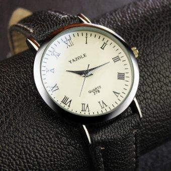 YAZOLE Brand Watch Men Women Watches Quartz Wristwatches Female Male Quartz-watch YZL278-A-Black - intl