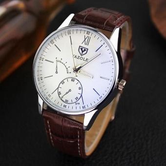 YAZOLE Business Quartz Watch Strap Fashion watch?coffee? - intl