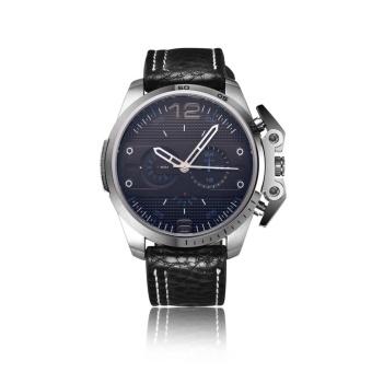 YBC Fashion Men PU Leather Strap Quartz Watch Waterproof Wristwatch - intl