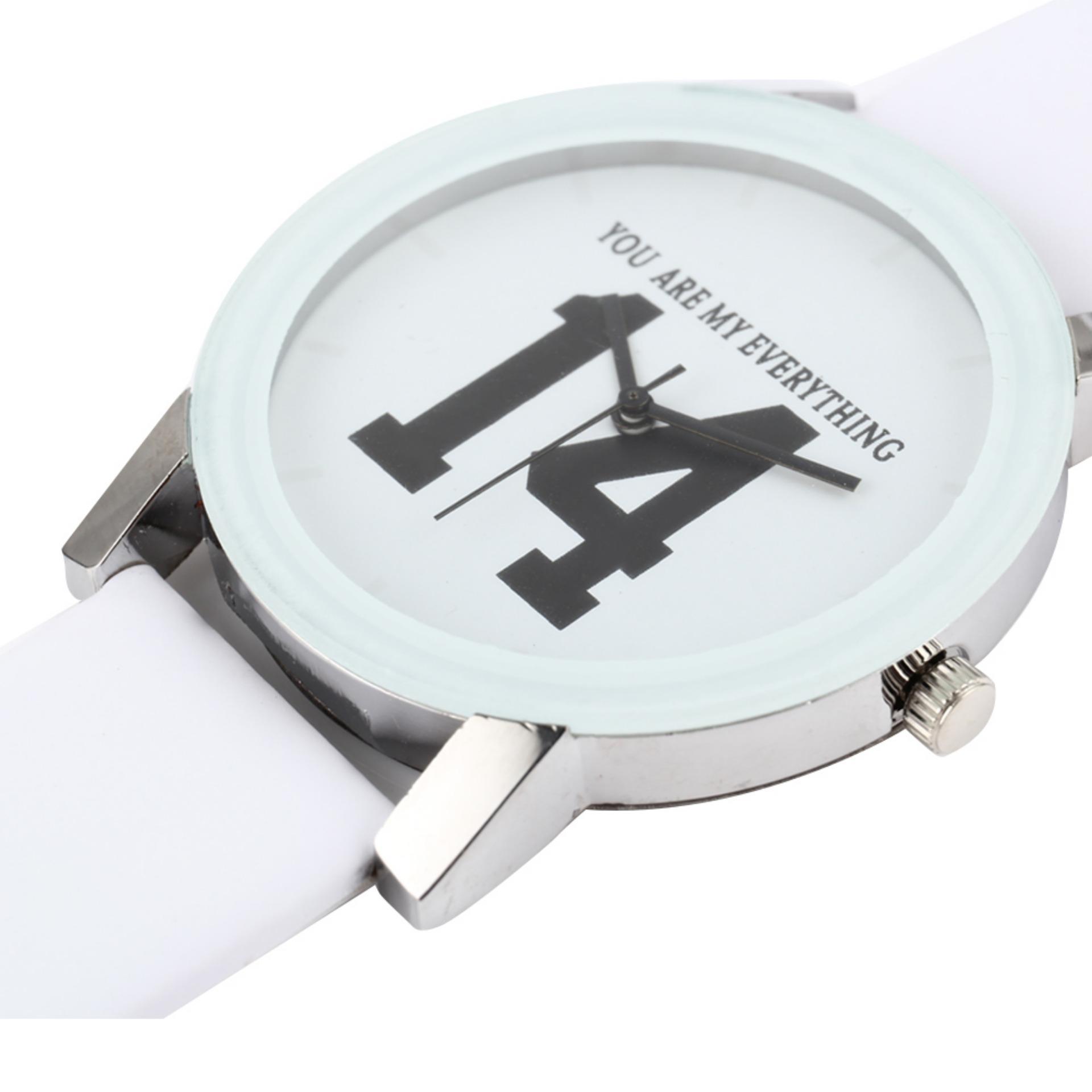 YBC kekasih angka Dial jam tali kulit kuarsa jam Analog untuk wanita - Internasional .