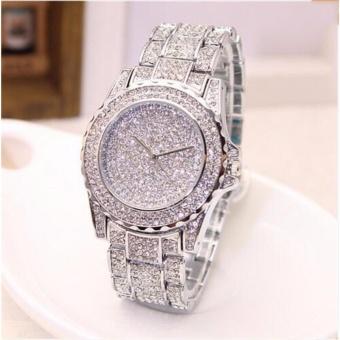Yika Full of stars with steel watch genuine diamond ladies watch fashion student table - intl