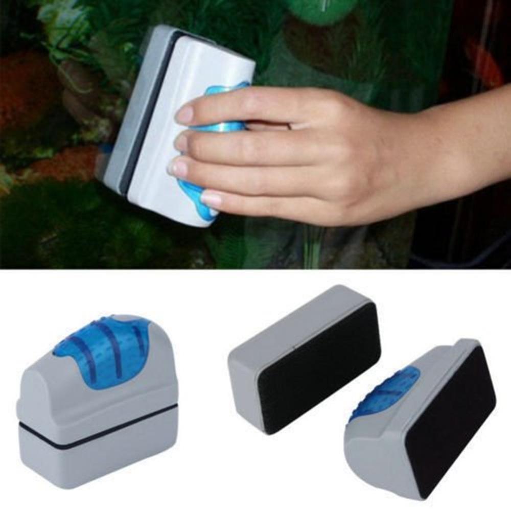 yooc Magnetic Aquarium Glass Cleaner Floating Brush, Small Size -intl
