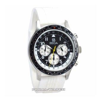 Zeca - Z236M - Jam Tangan Pria - Rubber Strap (Putih)