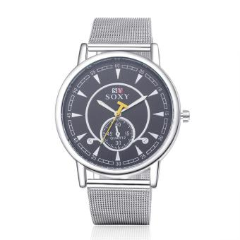 ZUNCLE Men Business Formal Quartz Wrist Watch (Silver)