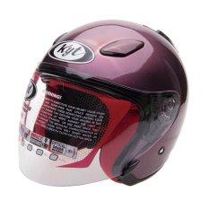 KYT Helm Half Face DJ Maru Purple