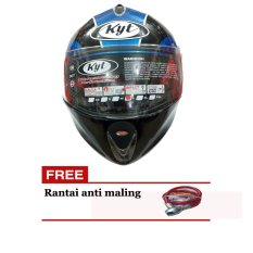 KYT X-Rocket Helm Pria - Biru-Hitam - ABS Orisinil - KYTXR321