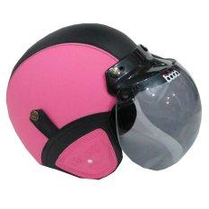 Matrix Helm - Helm Bogo Retro Pink Hitam