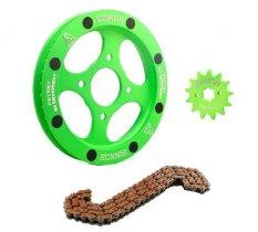 Sinnob Gear Set / Paket Gir Comfort Honda Tiger - Hijau