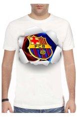 T-Shirt Glory Kaos 3D Barcelona Barca Crop - Putih