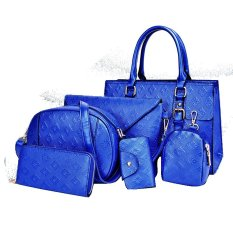 Vicria Tas Branded Wanita 6in1 High Quality Women Office Korean Style - Biru